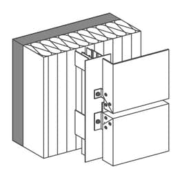 Tray panel screwed  for vertical panel layout