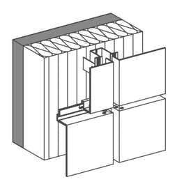 Tray panels SZ20  tongue and groove design / horizontal panel layout