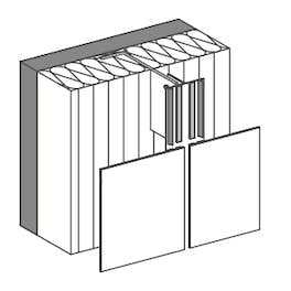 Bonded  for vertical / horizontal panel layout