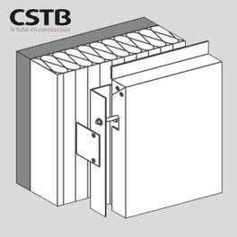 Cassettes accrochéessur un axe boulonné pour une disposition de panneaux verticale