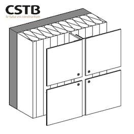 Rivetés / visséssur une ossature porteuse aluminium pour disposition de panneaux verticale
