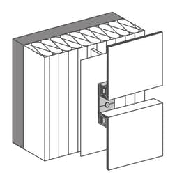 easy fiX 90°/90°  for vertical / horizontal panel layout