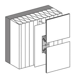 easy fiX 135° /135°  for vertical / horizontal panel layout